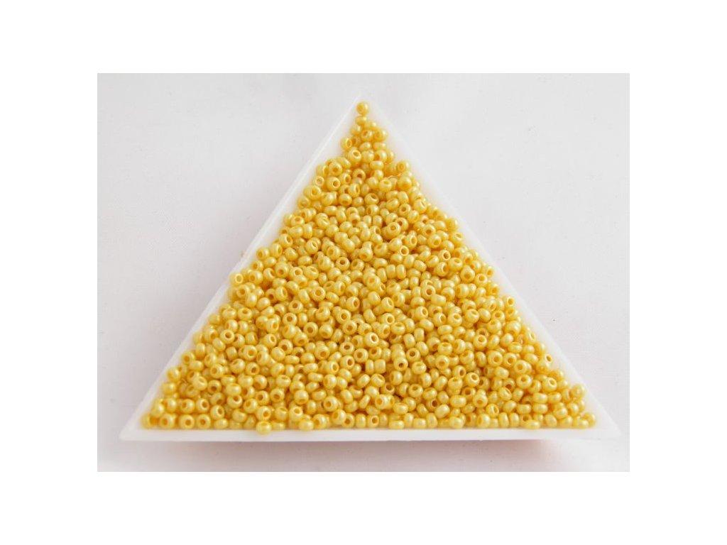 Korálky - rokajlové perličky žlutý vosk 46383 - 10/0