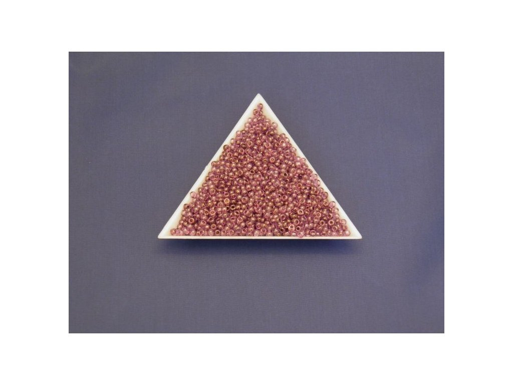 Korálky - rokajlové perličky - krystal s amethystovým listrem 48025 - 9/0