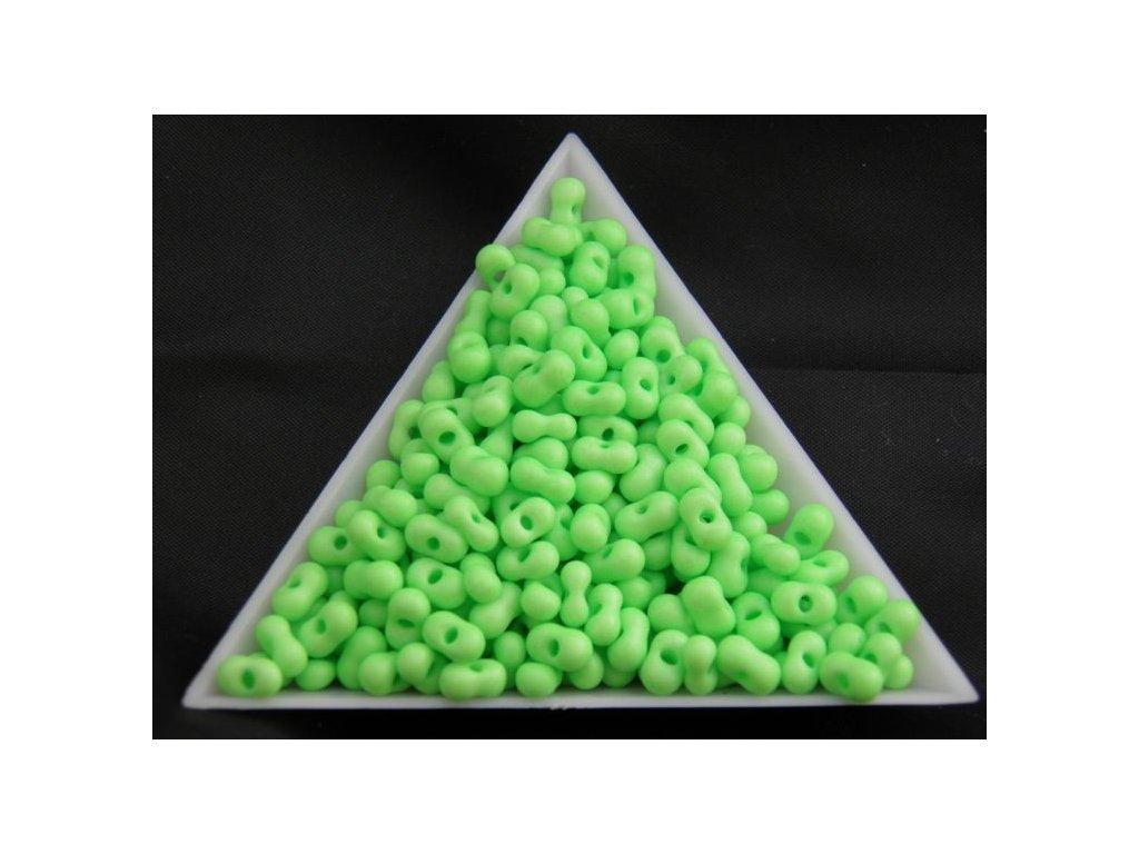 Korálky - farfale NEON - 2 x 4 mm - pastelově zelené 36756