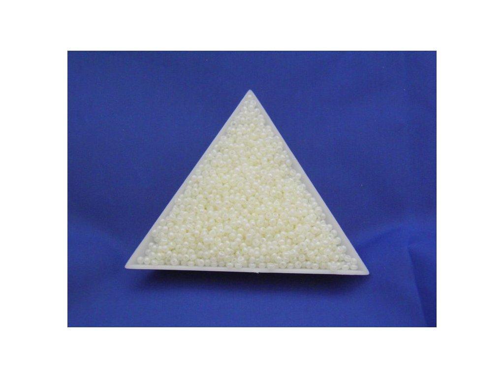 Korálky - rokajlové perličky žluté s AB 57206 - 10/0