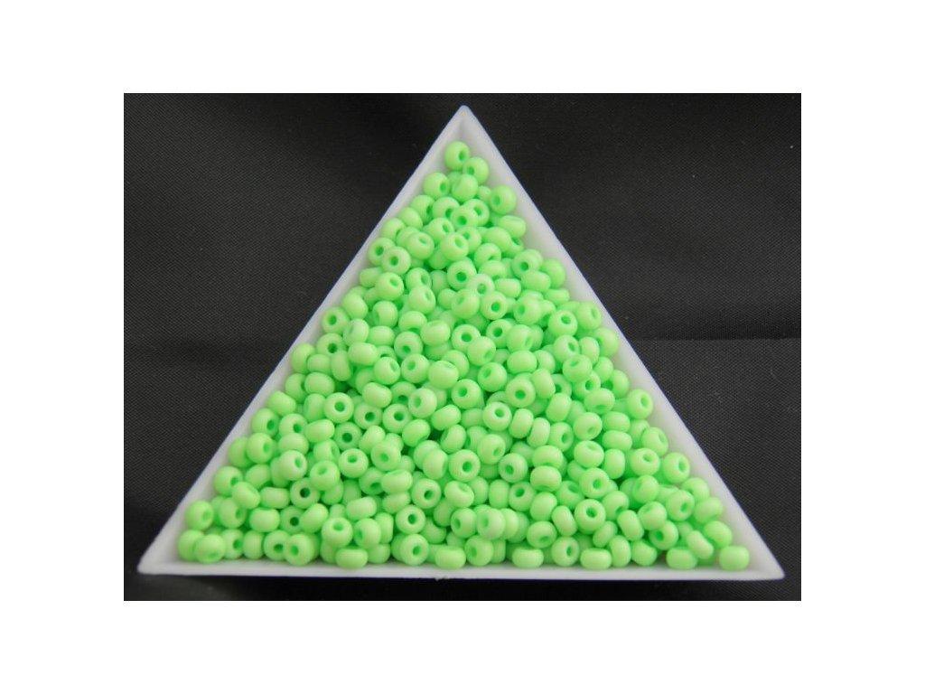 Korálky - rokajlové perličky NEON pastelově zelené 36756 - 7/0