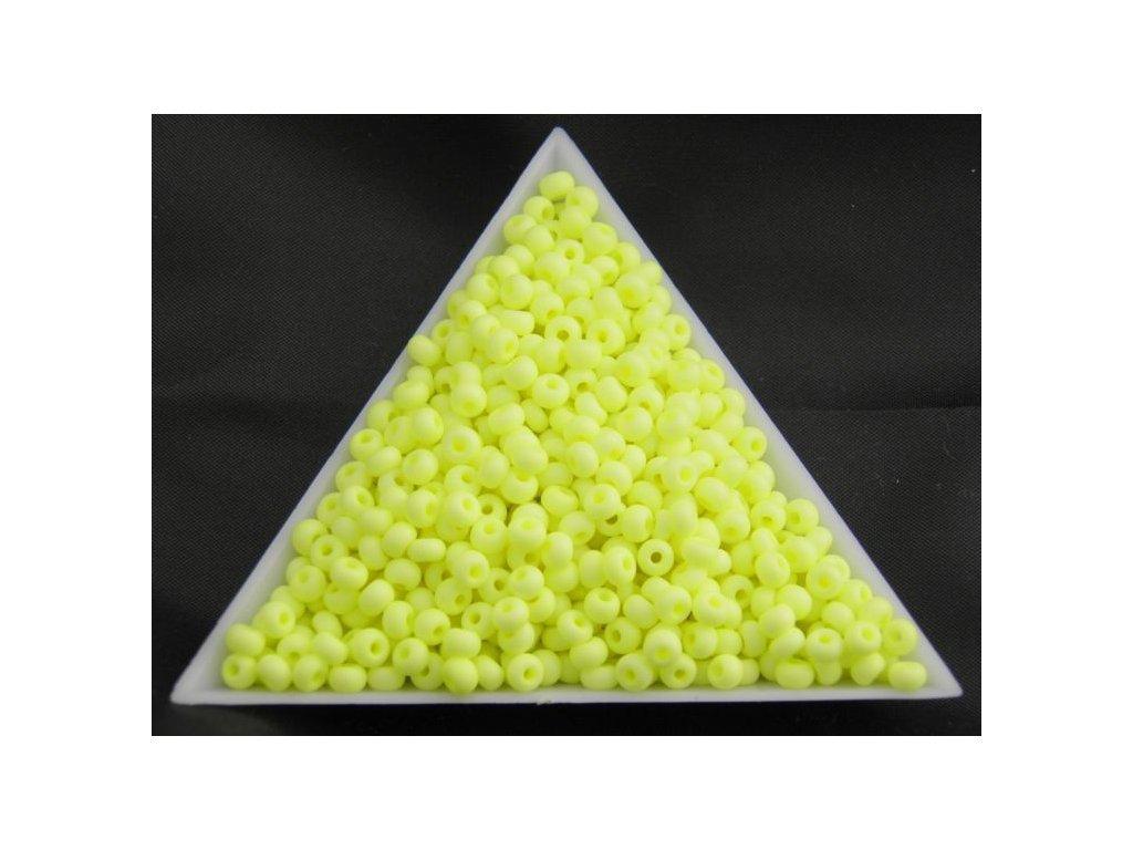 Korálky - rokajlové perličky NEON pastelově žluté 36786 - 7/0