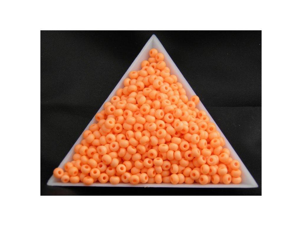 Korálky - rokajlové perličky NEON pastelově oranžové 36789 - 7/0