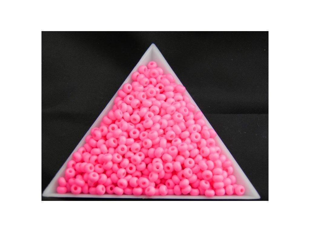 Korálky - rokajlové perličky NEON pastelově růžové 36777 - 7/0
