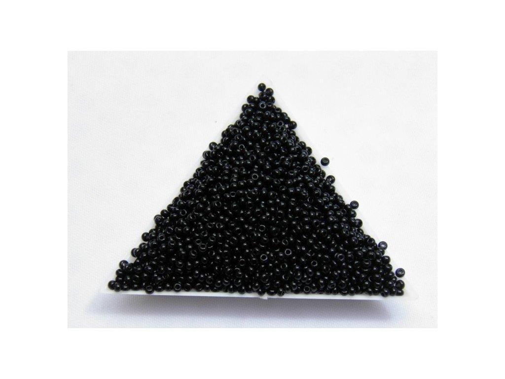 Korálky - rokajlové perličky 23980 - černé 10/0