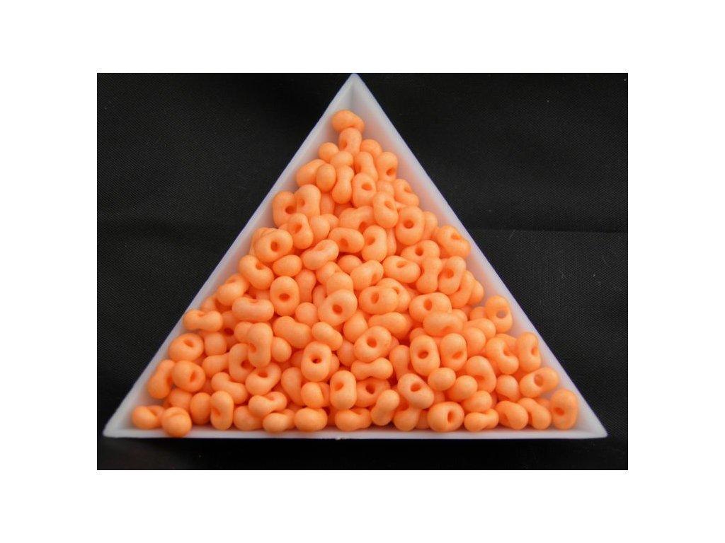 Korálky - farfale NEON pastelově oranžové 36789