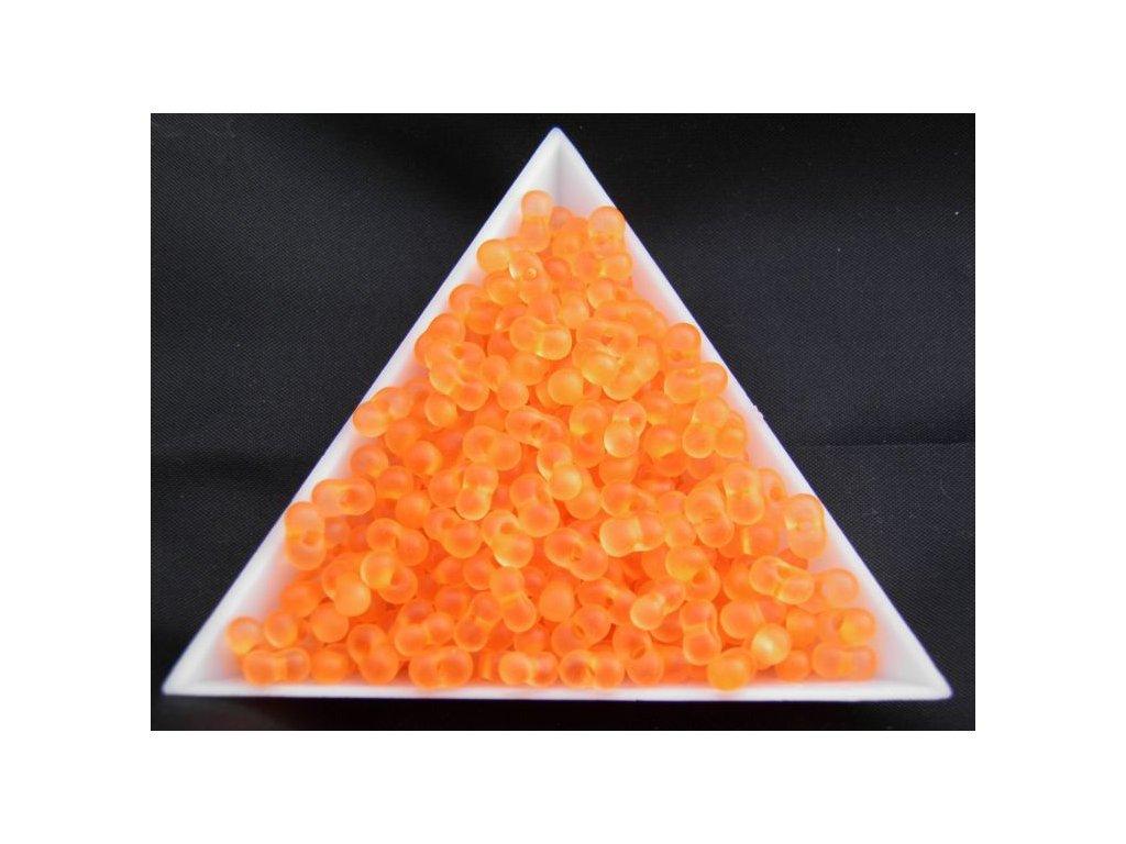 Korálky - farfale NEON oranžové 38789