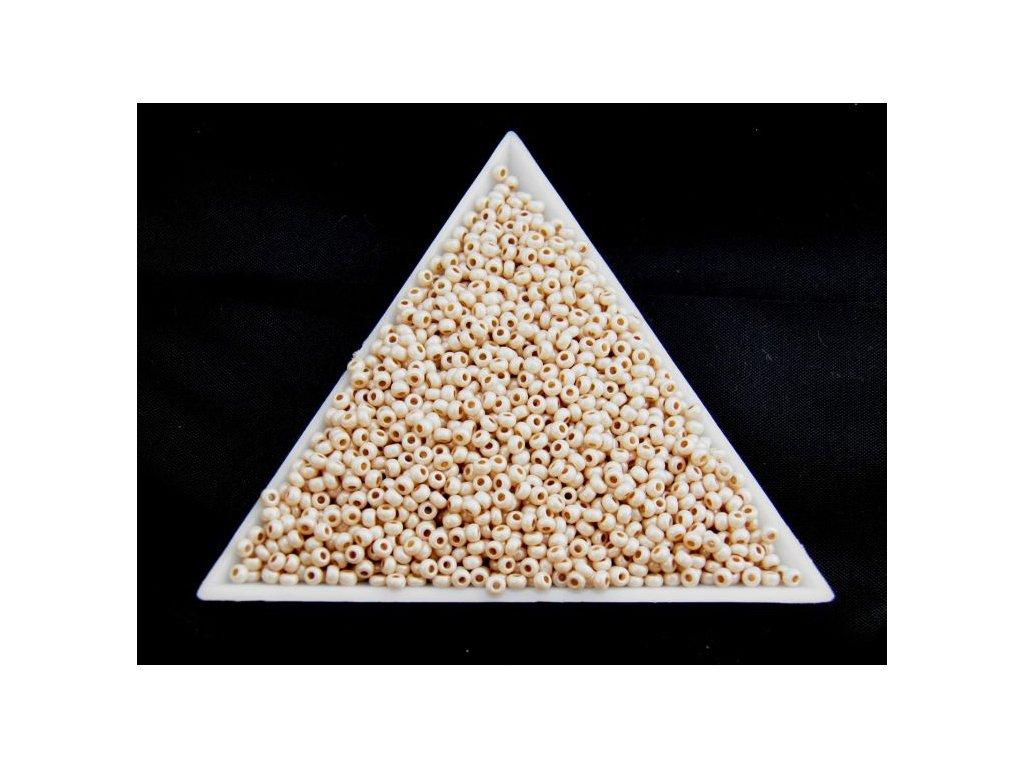 Korálky - rokajlové perličky hnědý vosk 46316 - 10/0
