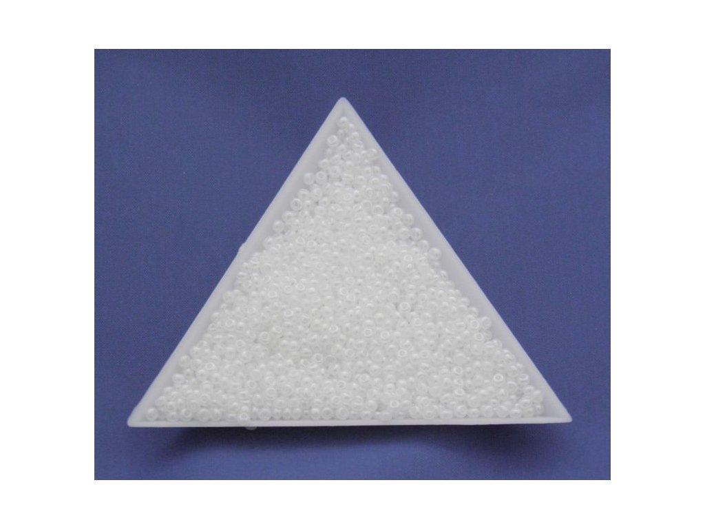 Korálky - rokajlové dropsy perleťově bílý listr 46102 - 8/0