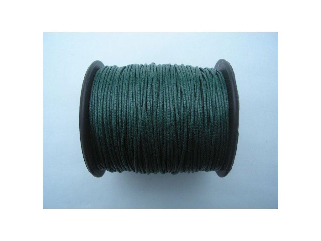 Bavlněná voskovaná šňůrka tmavě zelená
