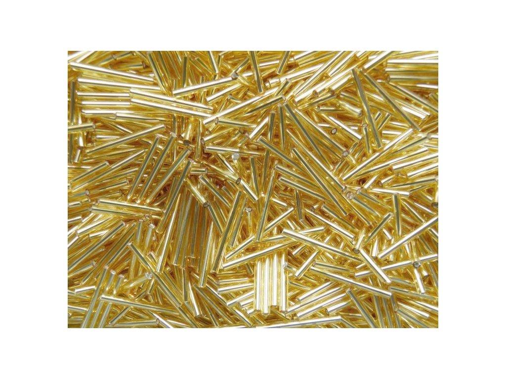 Korálky - rokajlové tyčky 15 mm - zlaté rovné 17020 (T107)