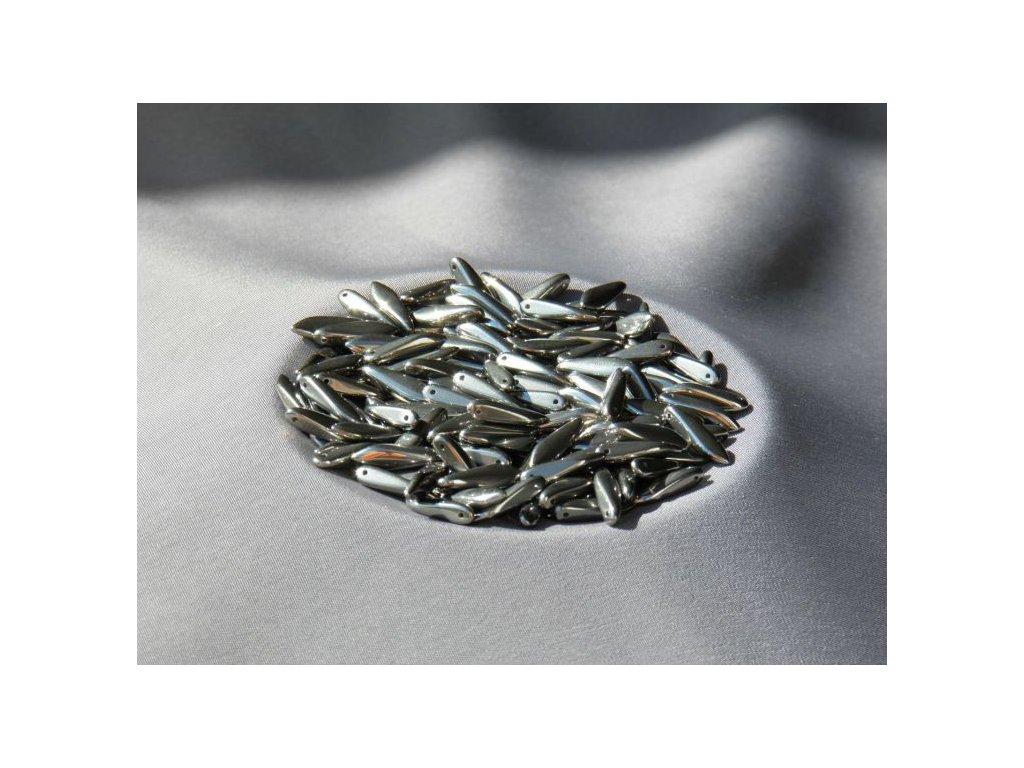 Korálky mačkané - jazýček 00030/27400 - 5 mm x 16 mm