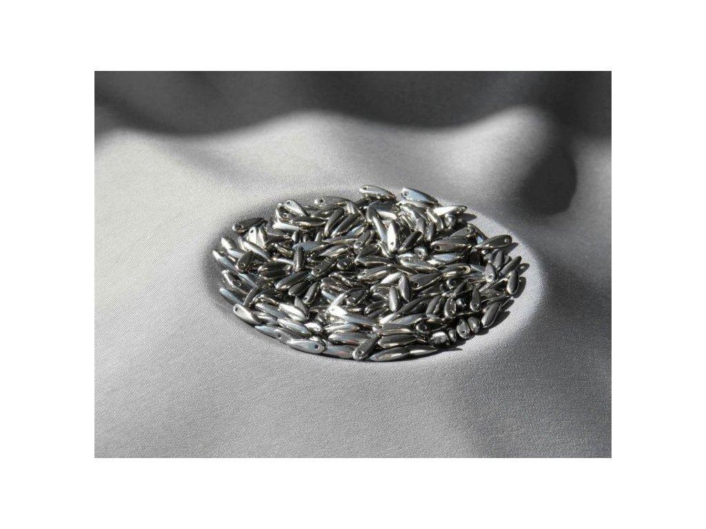 Korálky mačkané - jazýček 00030/27400 - 3 mm x 11 mm