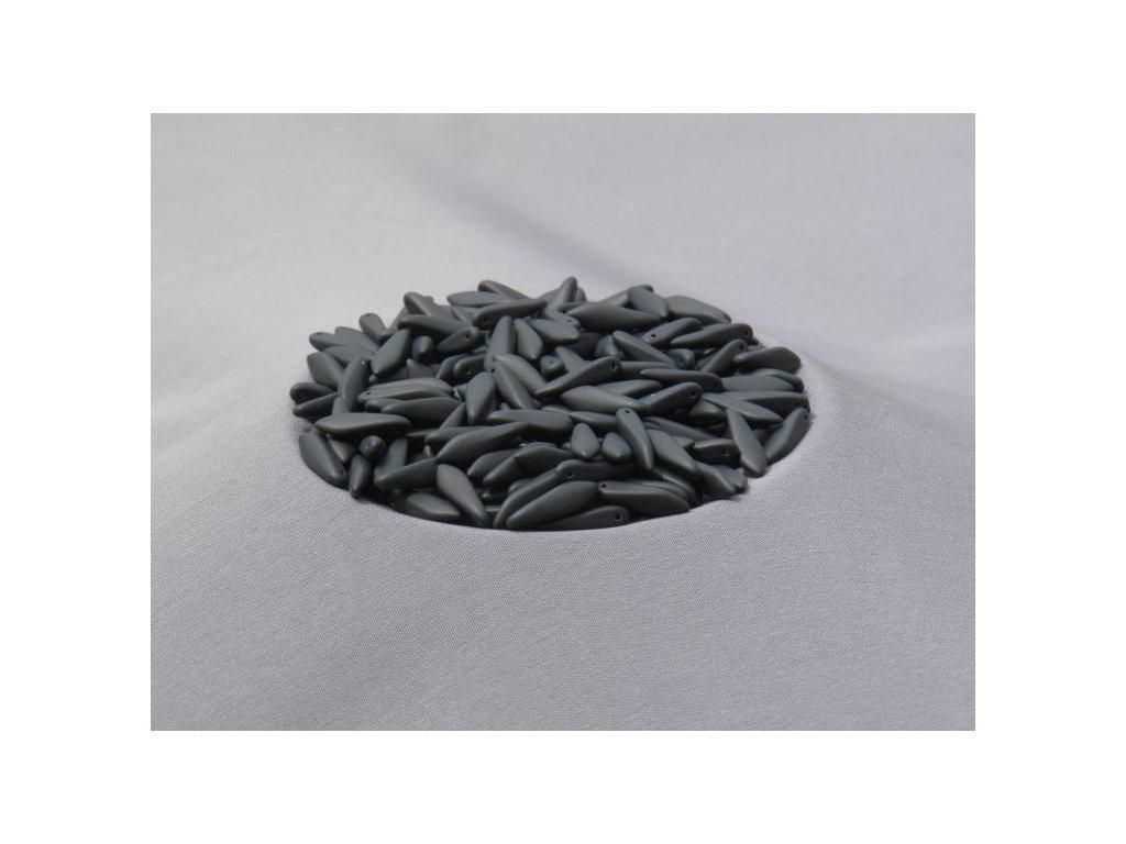 Korálky mačkané - jazýček 23980/84110 - 5 mm x 16 mm