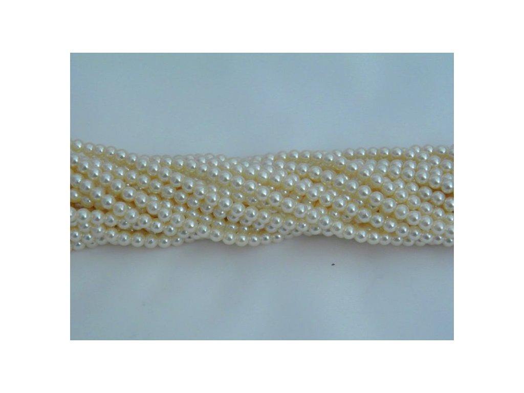 Korálky - voskované perle 4 mm - 12132