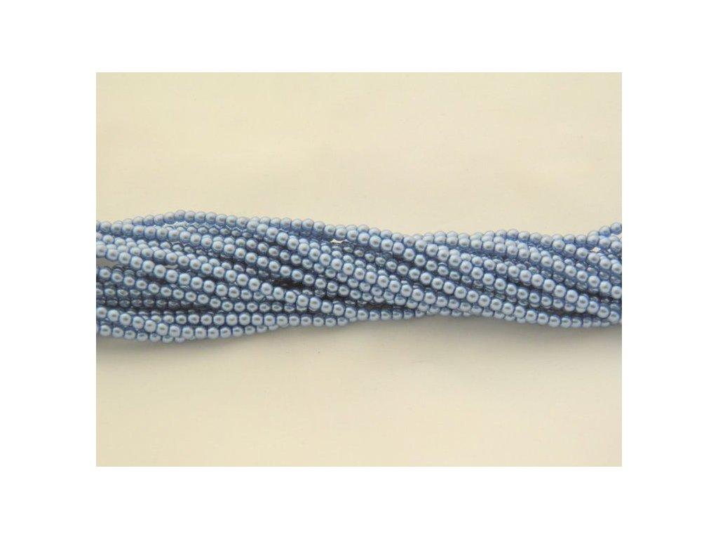 Korálky - voskované perle (12392) 3 mm