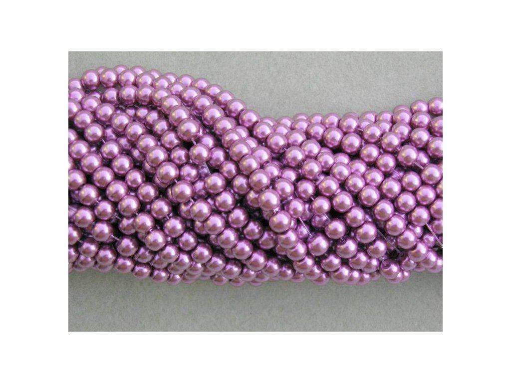 Korálky - voskované perle (12277) 6 mm