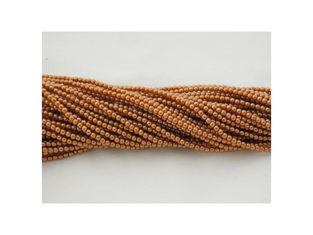 Korálky - voskované perle (12191) 3 mm