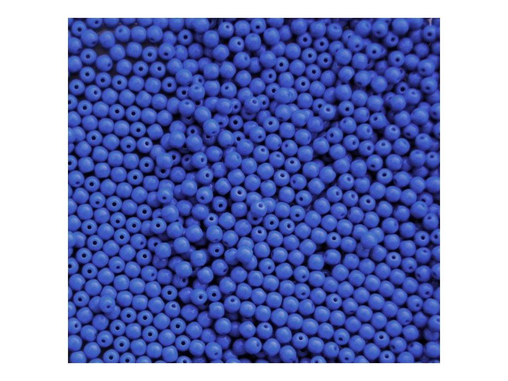 Korálky mačkané - kulička 4 mm - 33200 modrá