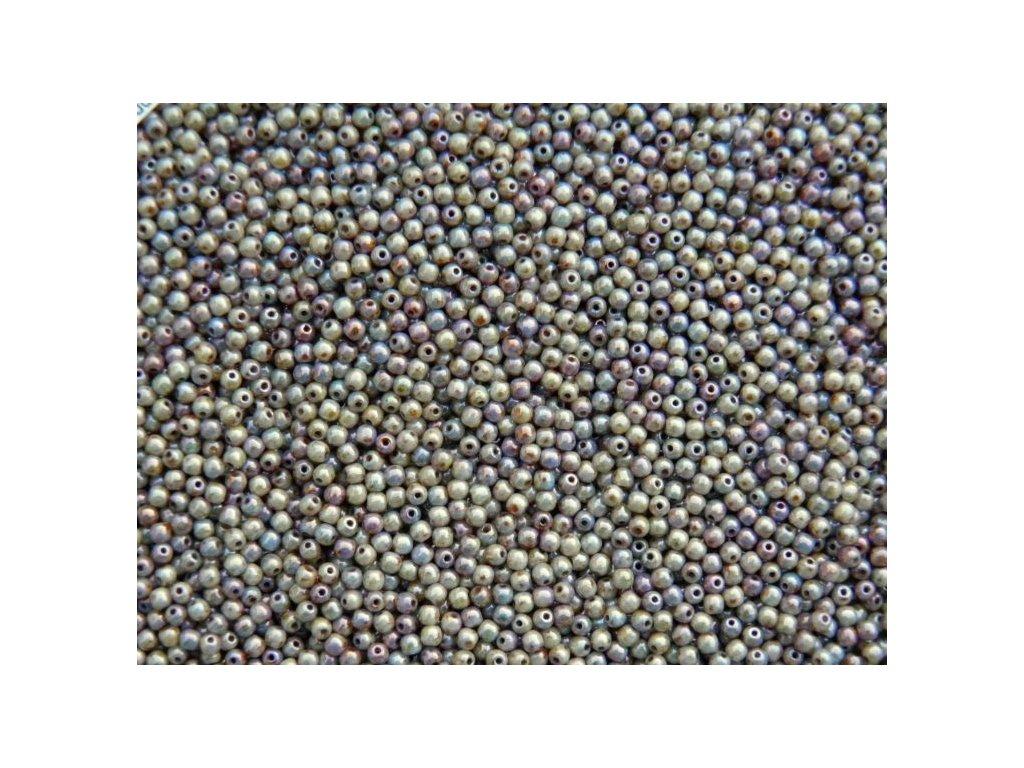 Korálky mačkané - kulička 3 mm - LN02010 Marble Green