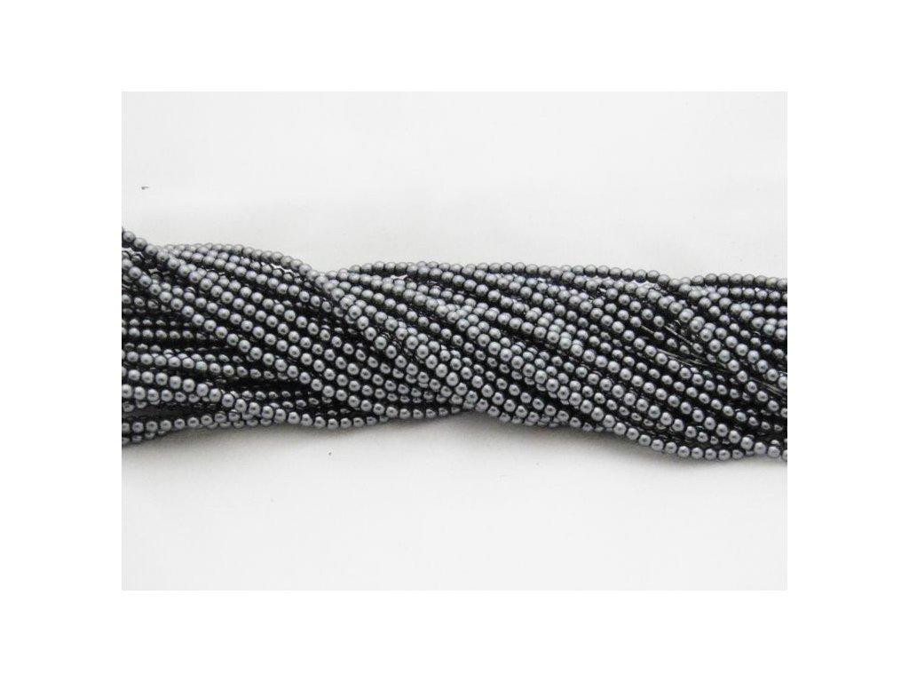 Korálky - voskované perle (12484) 3 mm