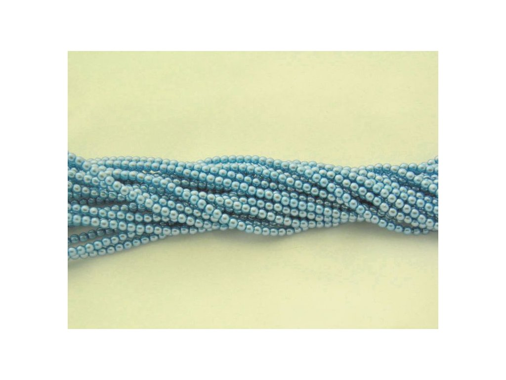 Korálky - voskované perle (12375) 5 mm