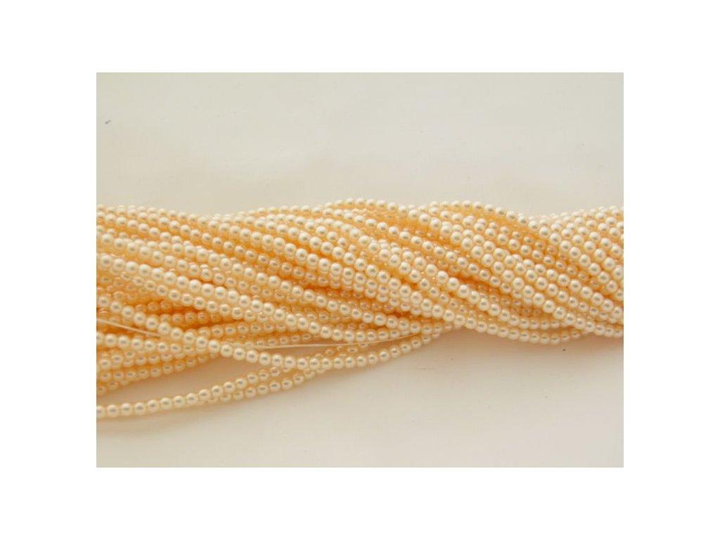 Korálky - voskované perle (12115) 3 mm