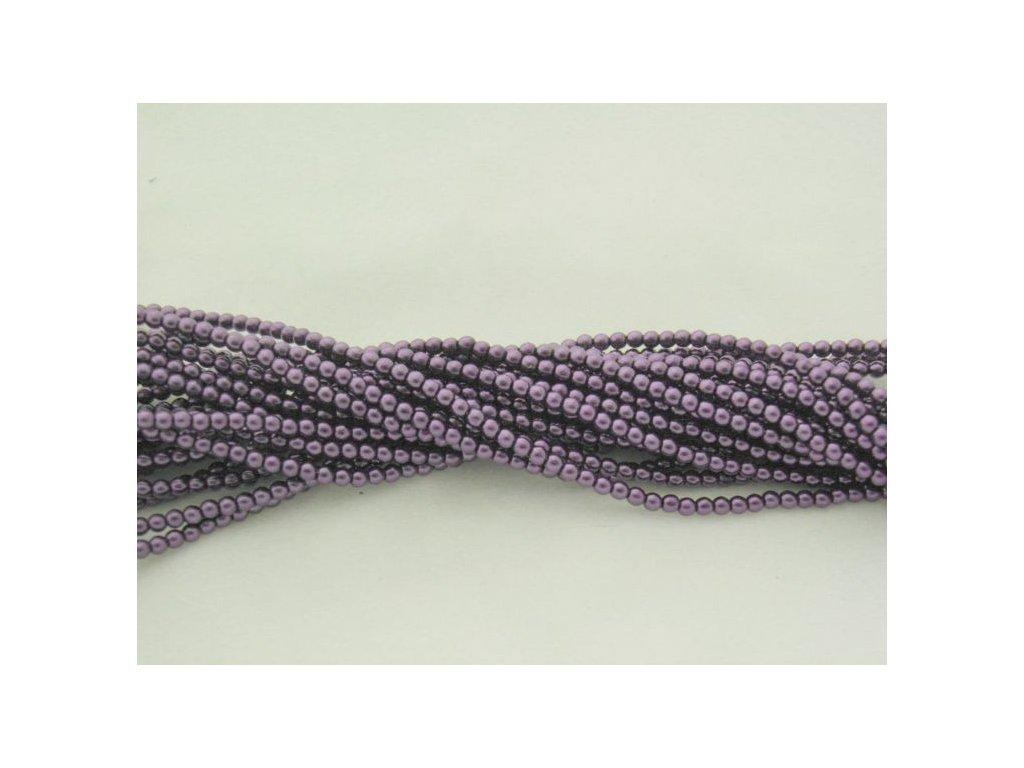Korálky - voskované perle (12297) 3 mm