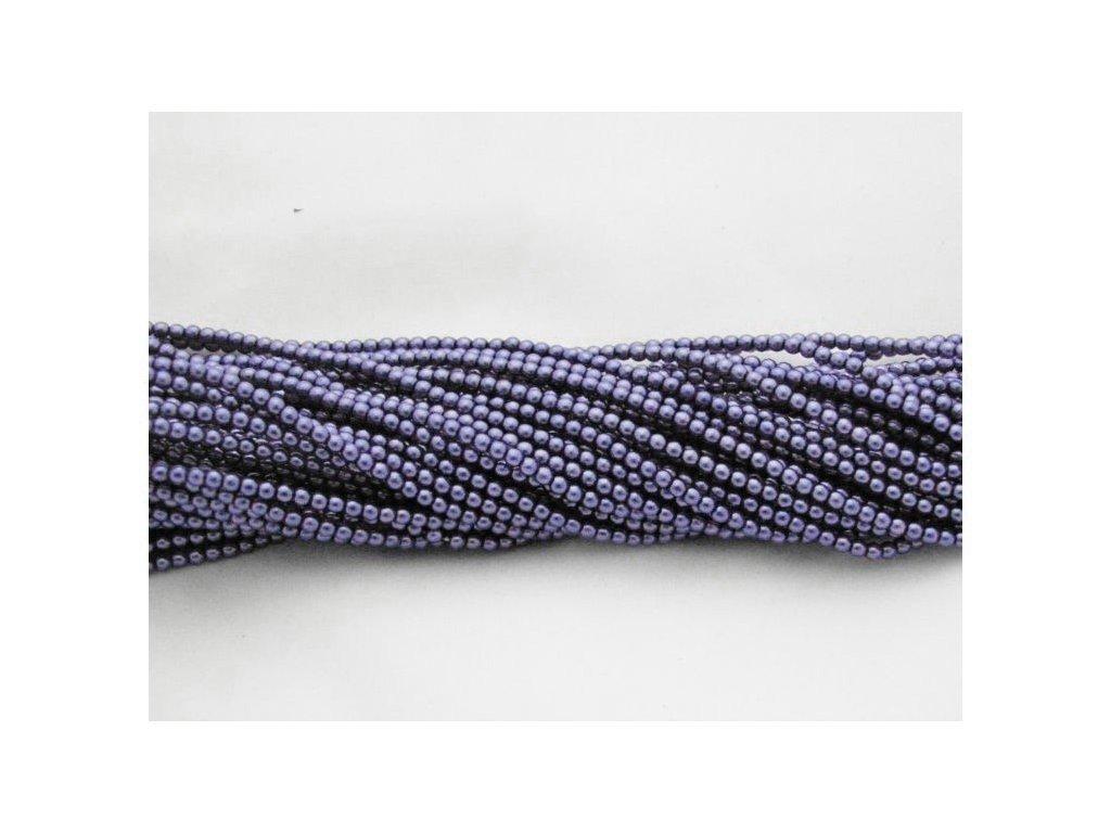 Korálky - voskované perle (12395) 4 mm