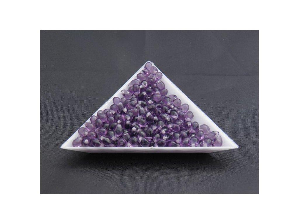 Korálky mačkané - kapka 4/6 mm - 20500 fialová