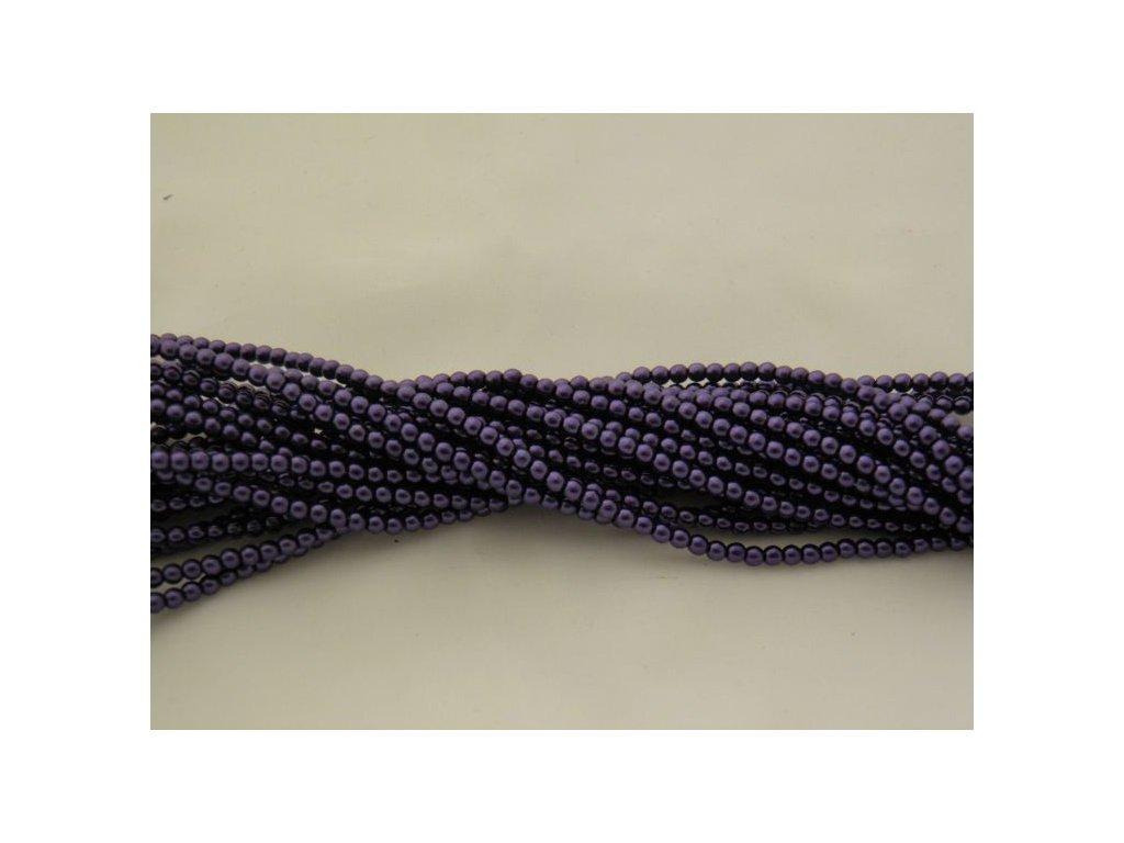 Korálky - voskované perle (12299) 3 mm