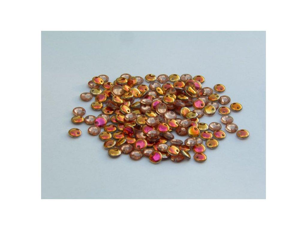 Korálky mačkané - čočka 6 mm - 00030/27103