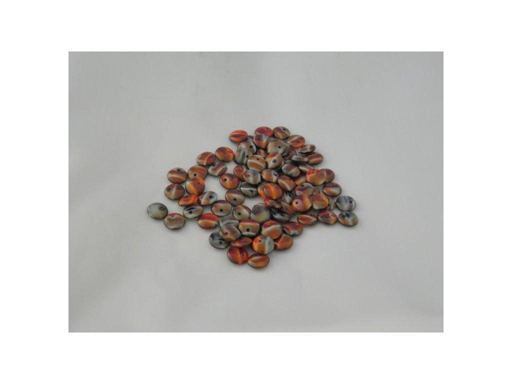 Korálky mačkané - čočka 8 mm - 26907