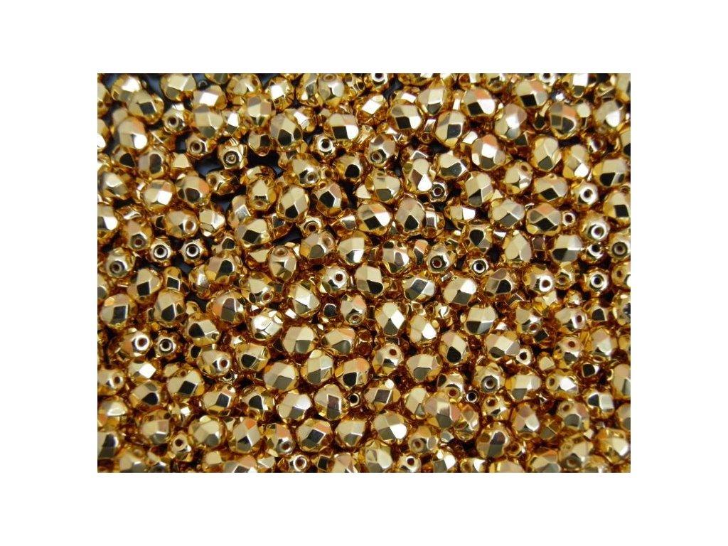 Korálky broušené - ohňovka 4 mm 00030/93381