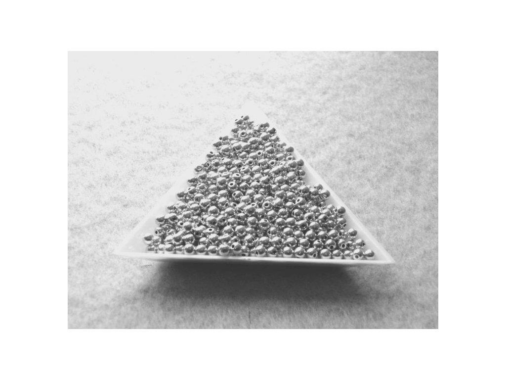 Korálky mačkané - kulička 3 mm - 23980/27000