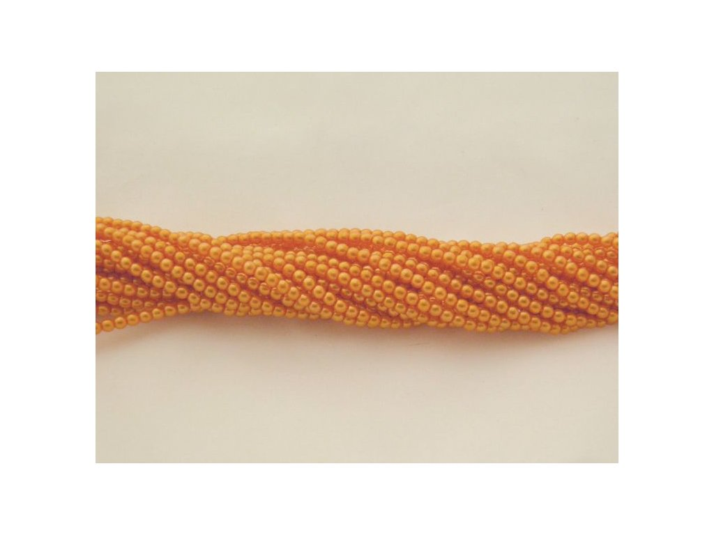 Korálky - voskované perle (12868) 5 mm