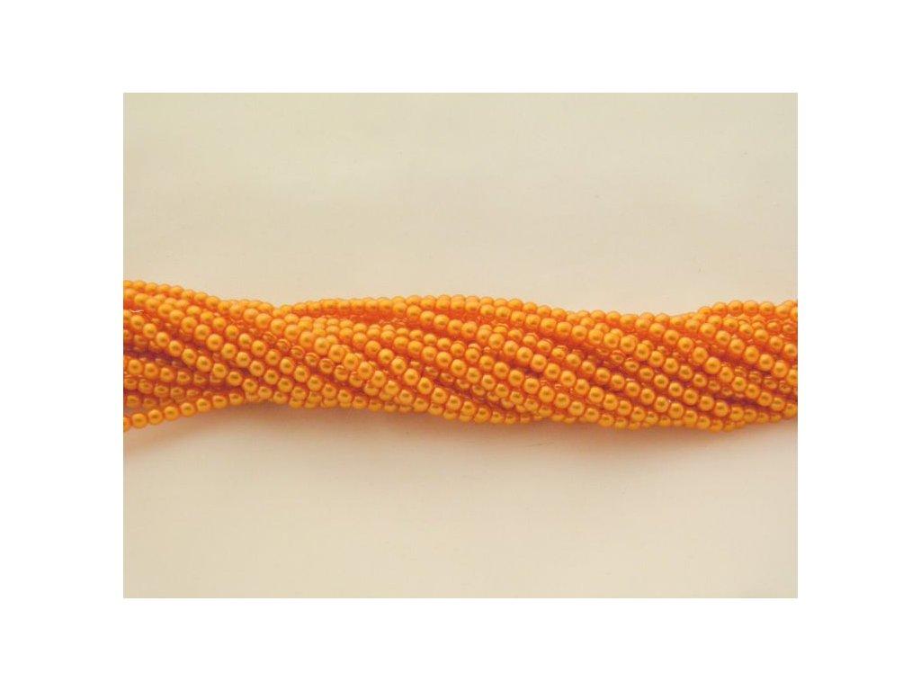 Korálky - voskované perle (12868) 3 mm