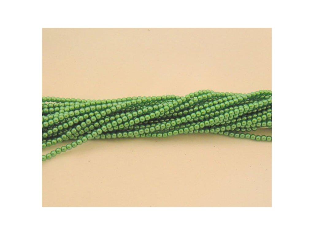 Korálky - voskované perle (12595) 3 mm