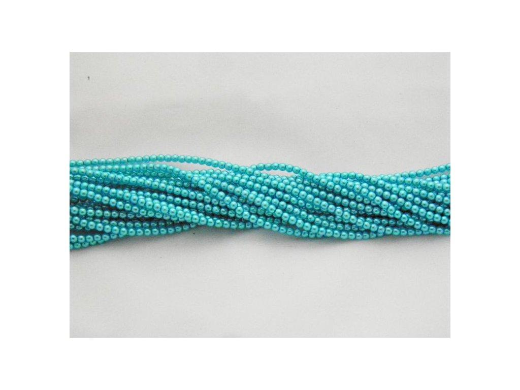 Korálky - voskované perle (12385) 3 mm