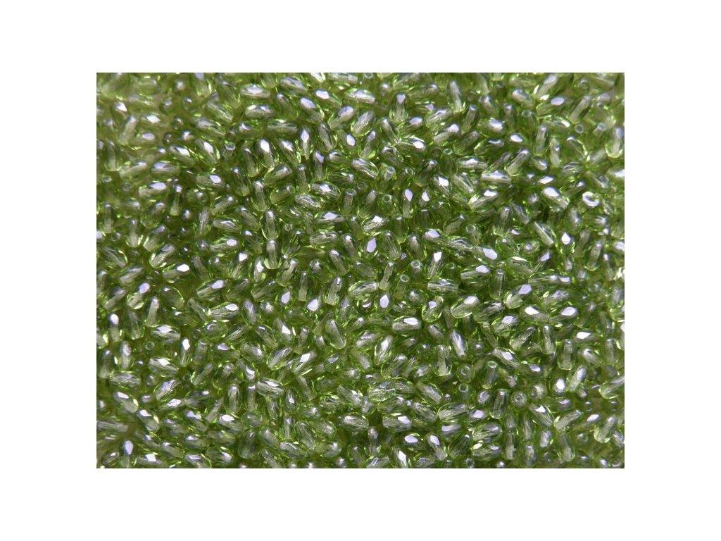 Korálky broušené - oliva 50230 - 6/4 - 15 ks