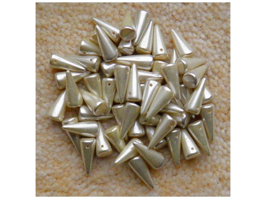 Korálky Spike Beads - trn 02020/81002 - 6 x 14 mm - metalický vosk