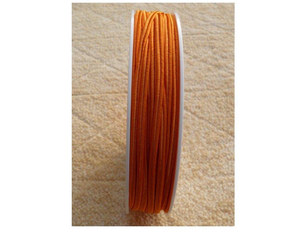 Sutaška 3 mm - č. 11 - oranžová 7353
