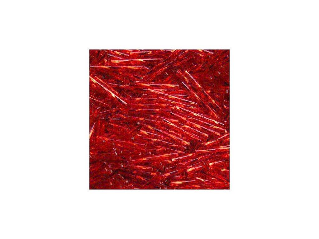 Korálky - rokajlové tyčky 20 mm - červené 97070 (T67)