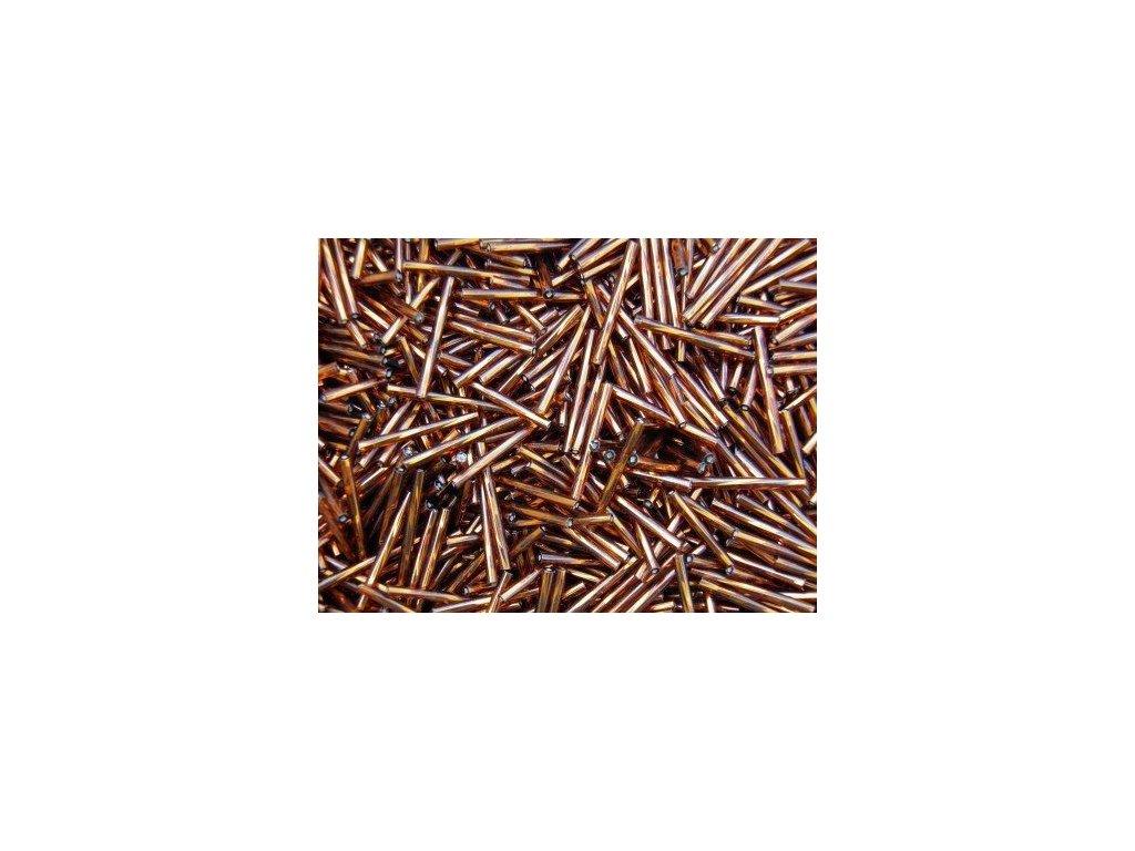 Korálky - rokajlové tyčky 25 mm - hnědé 17110 (T57)