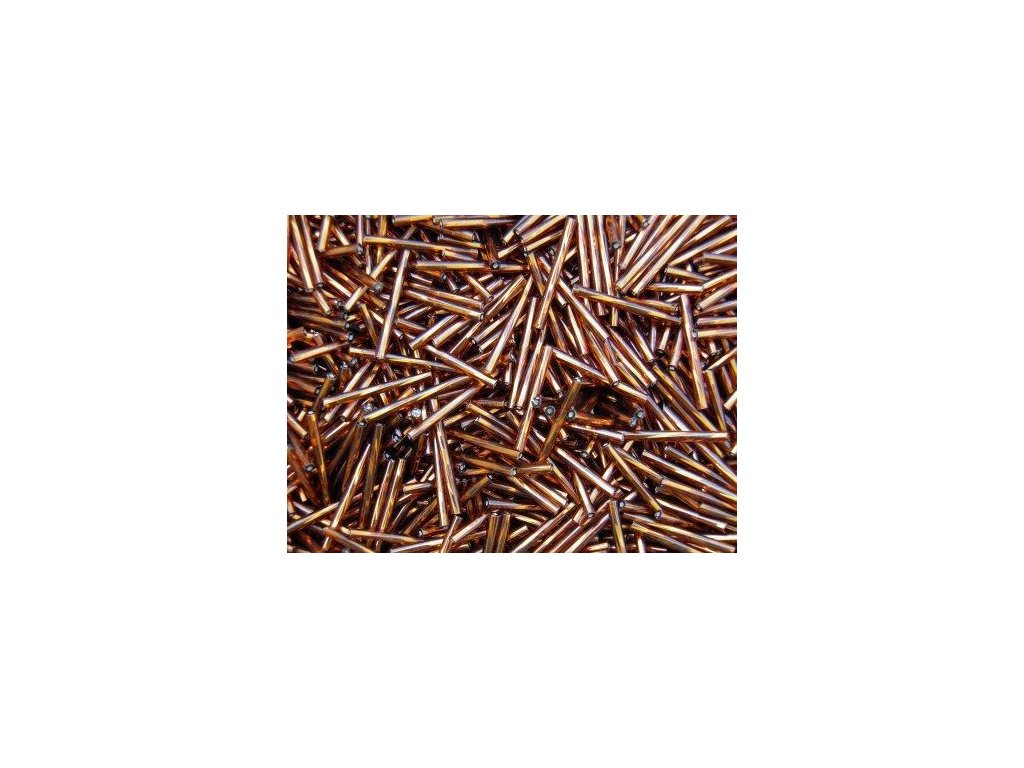 Korálky - rokajlové tyčky 30 mm - hnědé 17110 (T56)
