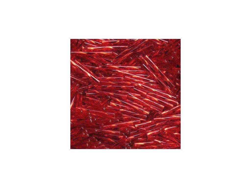 Korálky - rokajlové tyčky 30 mm - červené 97070 (T54)