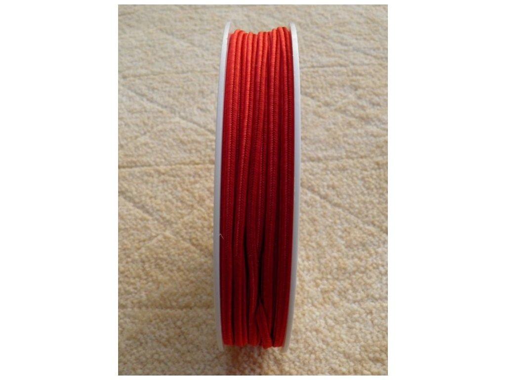 Sutaška 3 mm - č. 19 - červená 7501