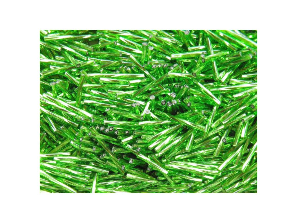 Korálky - rokajlové tyčky 15 mm - zelené točené 57430 (T6)