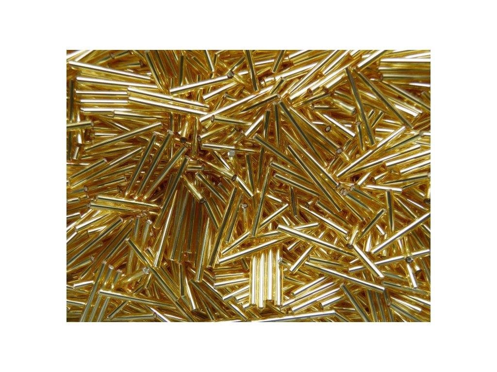Korálky - rokajlové tyčky 25 mm - rovné zlaté 17020 (T5)