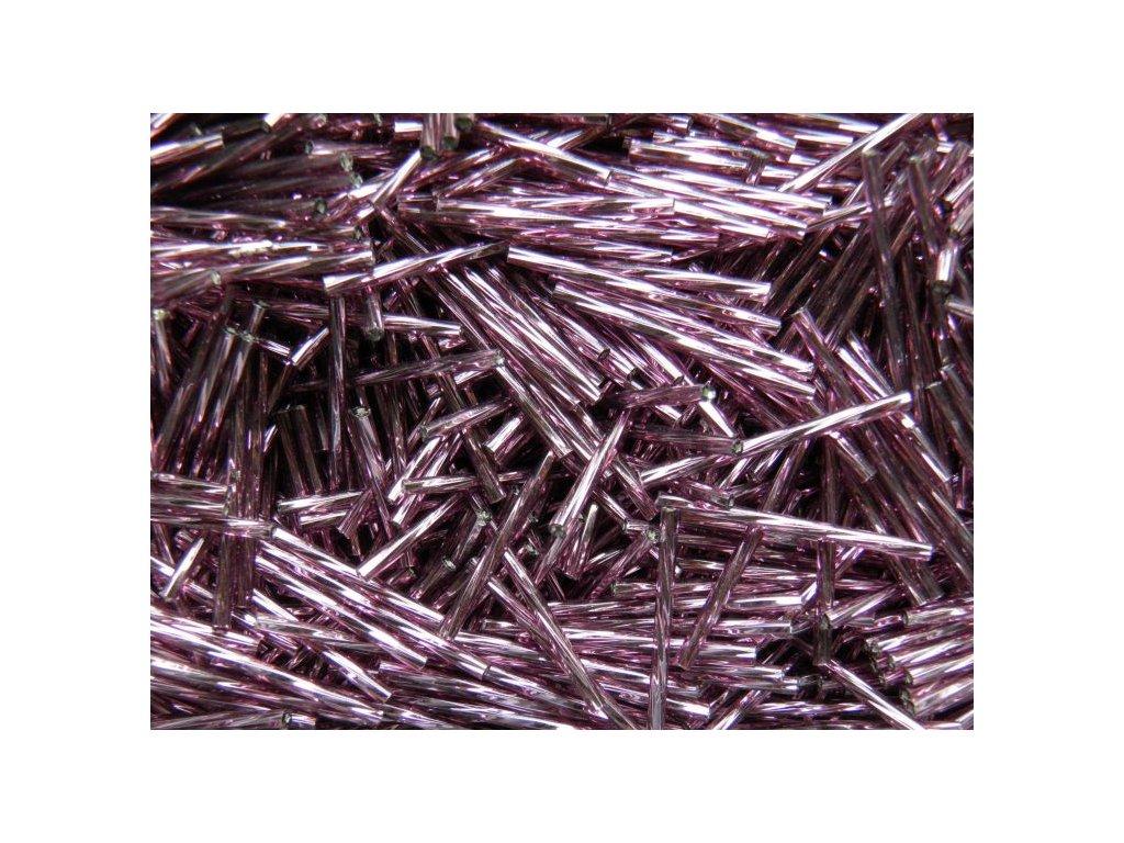 Korálky - rokajlové tyčky 35 mm - světle fialové 27010 (T2)